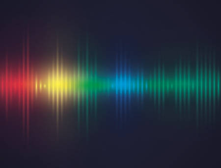 vibrations: Sound design over blue background, vector illustration. Illustration
