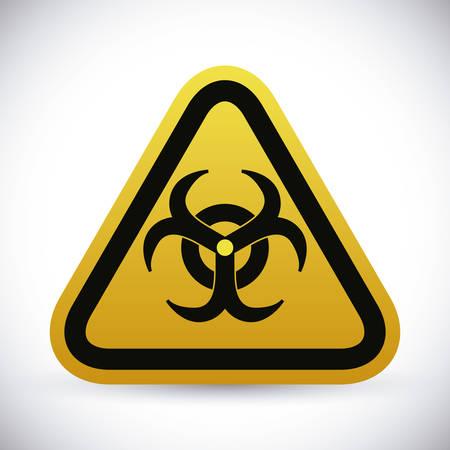 nuclear accident: Danger advert design over white background, vector illustration. Illustration