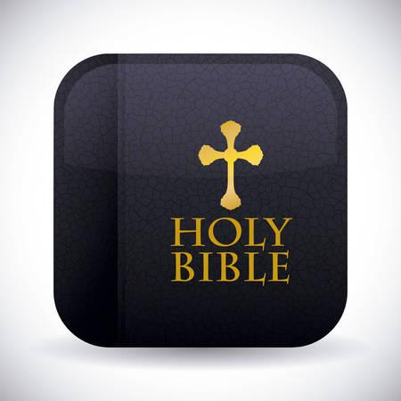 biblia: El diseño de la Sagrada Biblia sobre fondo blanco, ilustración vectorial. Vectores