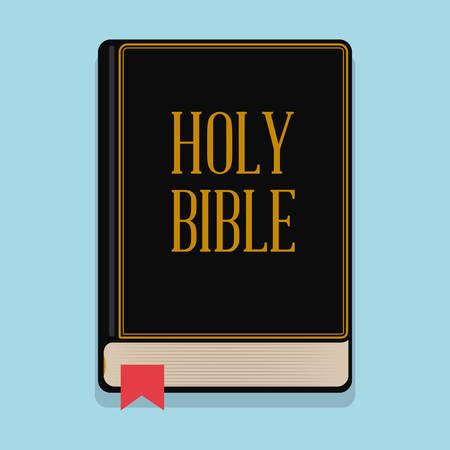 Holy bible design over blue background, vector illustration.