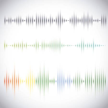 musica electronica: Dise�o de sonido sobre fondo blanco, ilustraci�n vectorial. Vectores