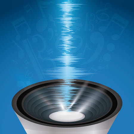 vibrations: Sound design over white background, vector illustration. Illustration