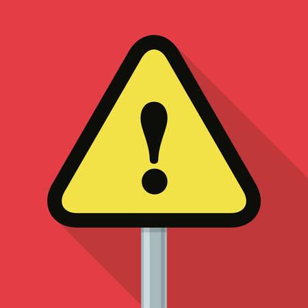 advert: Danger advert design over white background, vector illustration. Illustration