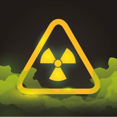 advert: Danger advert design over black background, vector illustration.