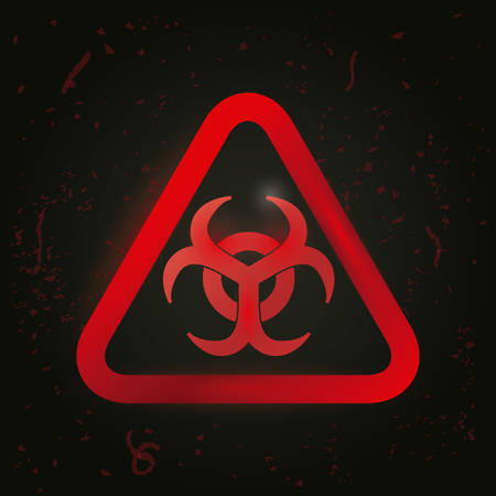 Danger advert design over black background, vector illustration. Vector