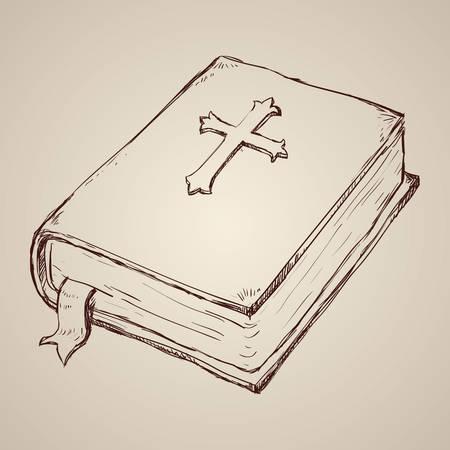 Holy bible design over beige background, vector illustration.