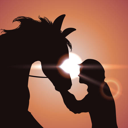 sunshine background: Horse design over sunshine background, vector illustration. Illustration