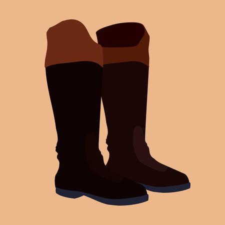 riding boot: Horse design over beige background, vector illustration. Illustration