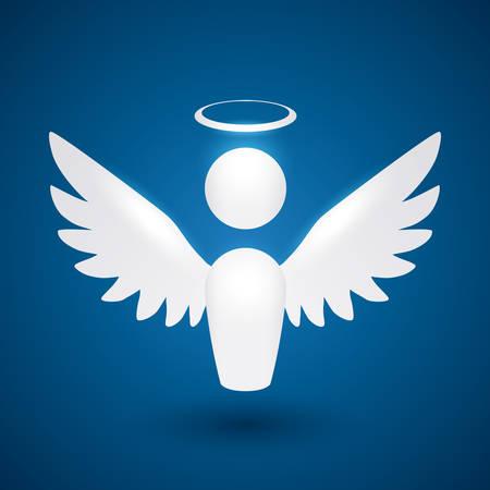 Angel design over blue background, vector illustration,