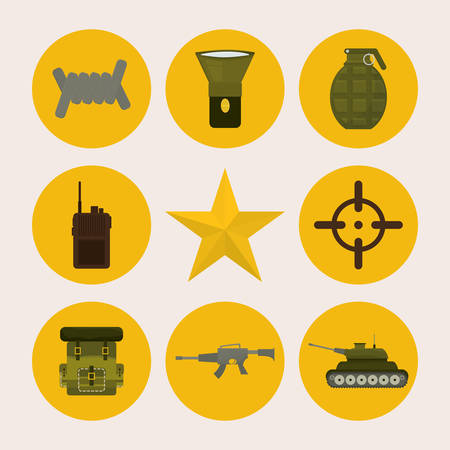 Army design over white background, vector illustration. Vector