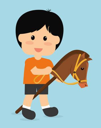 Horse design over white background, vector illustration. Vector