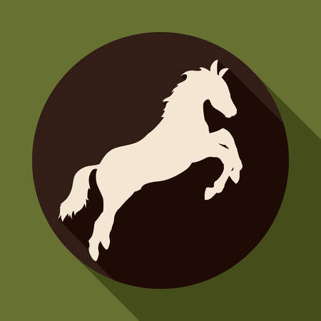 horse silhouette: Horse design over green background, vector illustration.