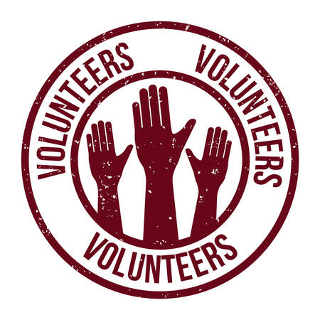 Volunteer design over white background, vector illustration. Çizim