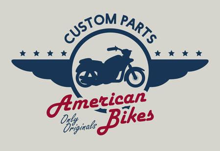 original bike: Motorcycle design over beige background, vector illustration.