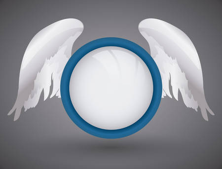 Angel design over gray background, vector illustration,