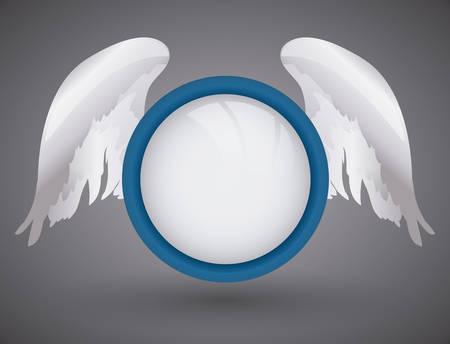 Angel design over gray background, vector illustration,