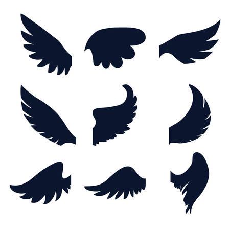 angel white: Angel design over white background, vector illustration, Illustration
