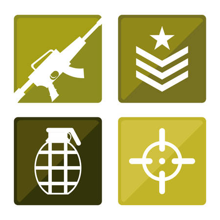 american army: Army design over white background, vector illustration.