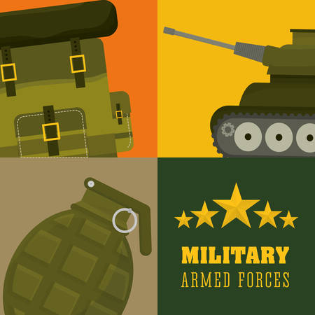 Army design over colorful background, vector illustration. Vector