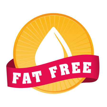 Low fat free label design, vector illustration.