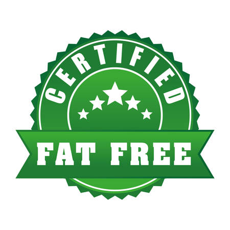 low fat: Low fat free label design, vector illustration.
