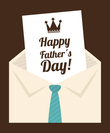 Happy fathers day card design, vector illustration.