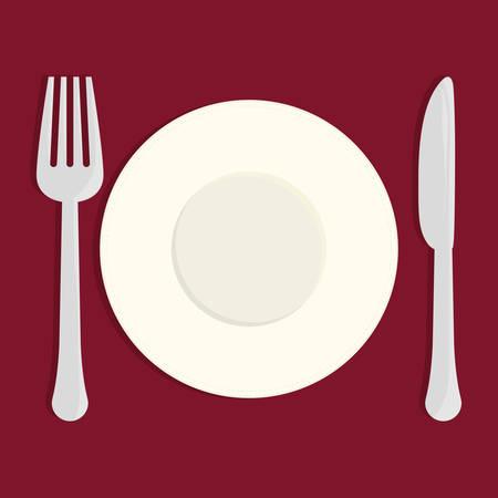 nutriments: Restaurant design over red background, vector illustration.