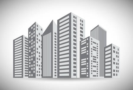 urbanization: Urban design over white background, vector illustration.