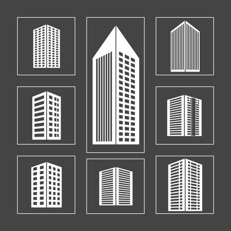 urbanization: Urban design over gray background, vector illustration. Illustration