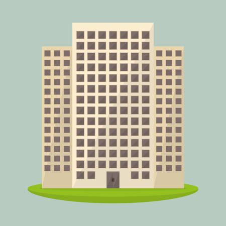 hometown: Urban design over blue background, vector illustration. Illustration