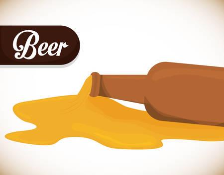 nutriments: Beer design over white background, vector illustration.