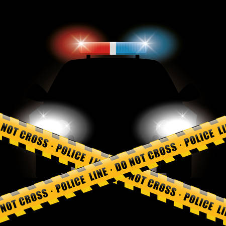 police: Police design over black background, vector illustration. Illustration