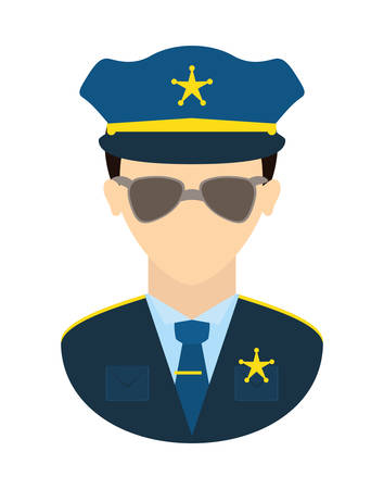 juridical: Police design over white background, vector illustration.