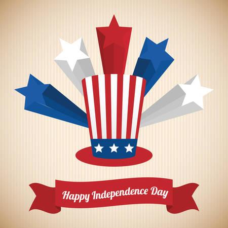 Uncle Sam: USA design over beige background, vector illustration.