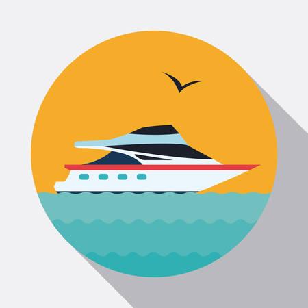 ocea: Travel design over white background, vector illustration.