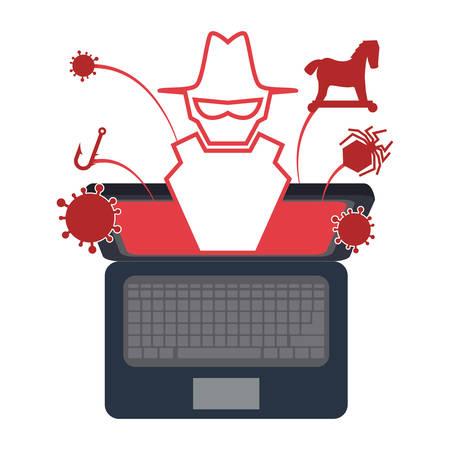 secured: Security system design over white background, vector illustration. Illustration