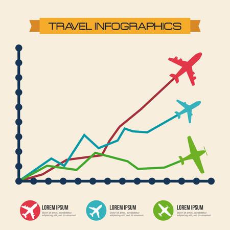 successfull: Travel design over beige background, vector illustration. Illustration