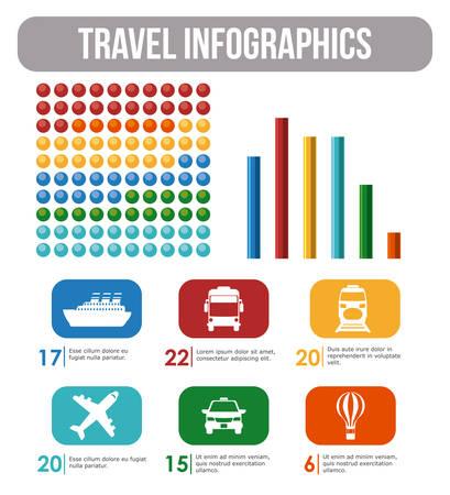 Travel design over white background, vector illustration. Vector