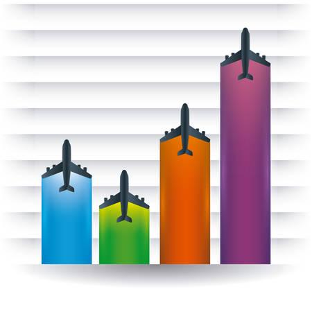 successfull: Travel design over white background, vector illustration.