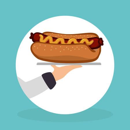 aliment: Food design over blue background, vector illustration.