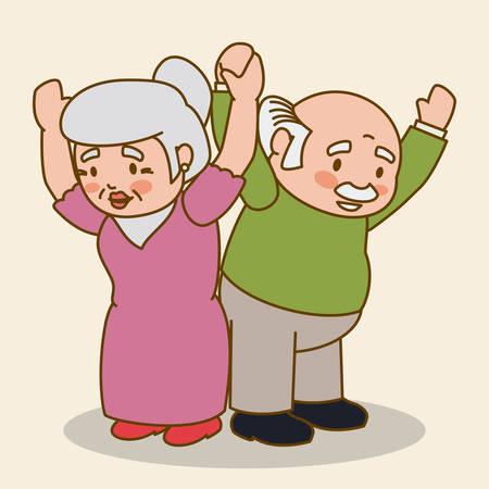 dearness: Grandparents design over beige background, vector illustration. Illustration
