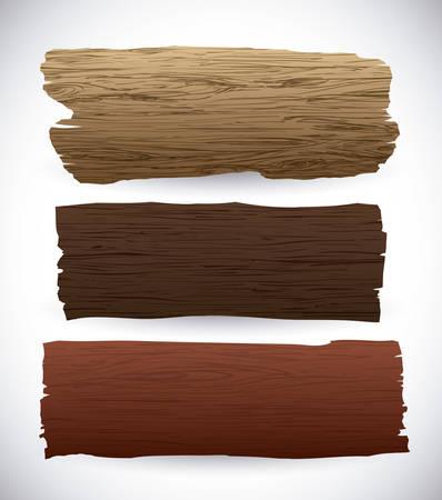 madera: Textura de madera y dise�o de objetos, ilustraci�n vectorial. Vectores