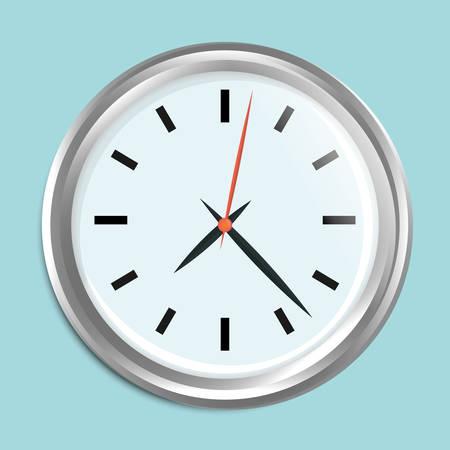 display type: Time design over blue background, vector illustration.