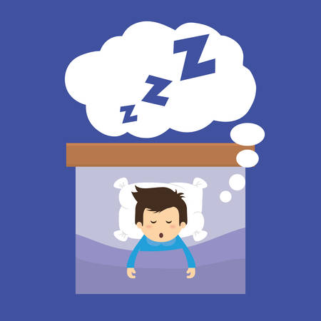 sleep cartoon: Sleep design over blue background, vector illustration.