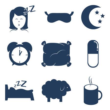 sleeping pills: Sleep design over white background, vector illustration.