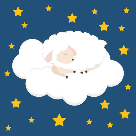 sleeper: Sleep design over blue background, vector illustration.