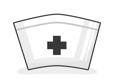 cartoon hat: Medical design over white background, vector illustration. Illustration