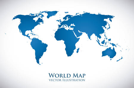 mapas conceptuales: Dise�o de mundo sobre fondo blanco, ilustraci�n vectorial.