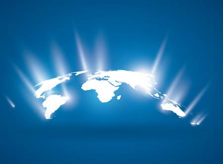 vehicle graphics: World design over blue background, vector illustration.