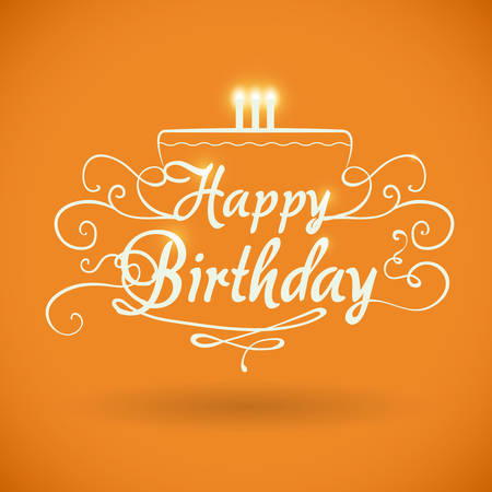 birthday decoration: Happy birthday colorful card design, vector illustration.